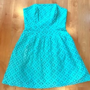 Strapless Lace Lilly Pulitzer Dress